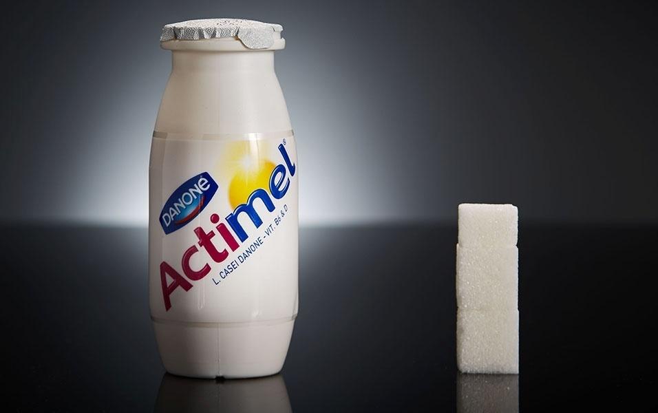 Uma garrafinha de Actimel tem 11,5 g de açúcar