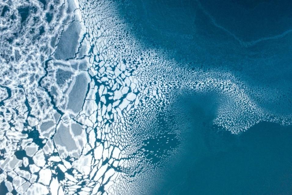 """A formação de gelo levou o terceiro lugar no concurso na categoria """"natureza"""""""