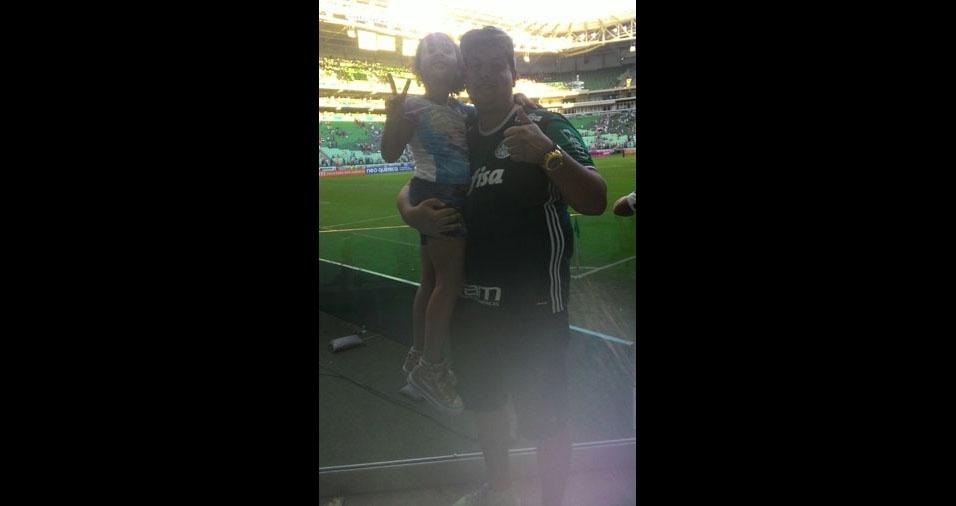 Yasmin com o pai Kleber Rodrigo de Jesus, de São Paulo (SP)