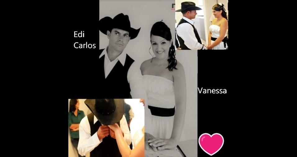Vanessa Moreti da Silva se casou com Edi Carlos da Silva em 26 de novembro de 2012, em Piedade (SP)