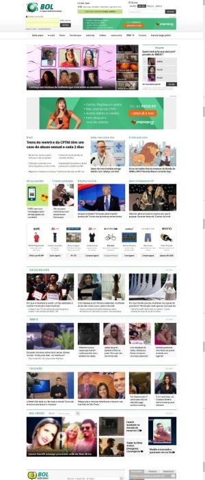 """No dia 8 de março de 2016, Dia Internacional da Mulher, o BOL estreou uma home muito mais moderna e dinâmica. A nova página principal do site se tornou """"responsiva"""", ou seja, adapta automaticamente o mesmo conteúdo para os diferentes computadores, tablets e smartphones."""