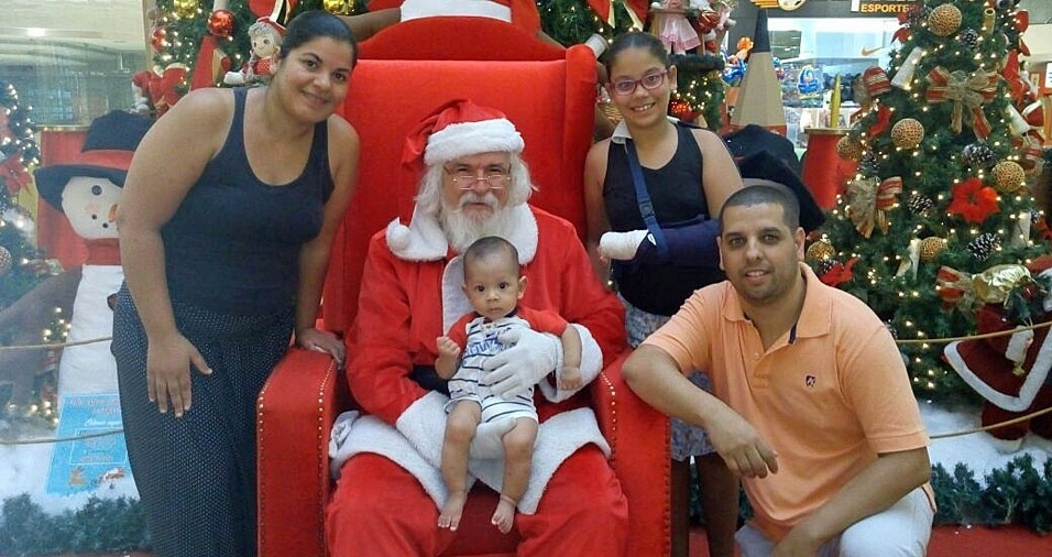 Douglas, Leila e os filhos Brenda e Pedro, de Araçatuba (SP)