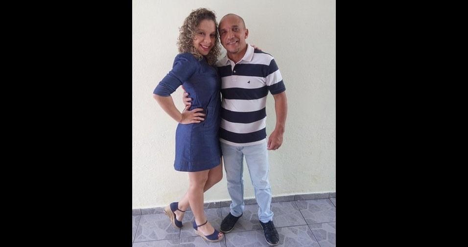 Letícia Aparecida de Souza com seu pai Osvaldo de Souza, de São Paulo (SP)