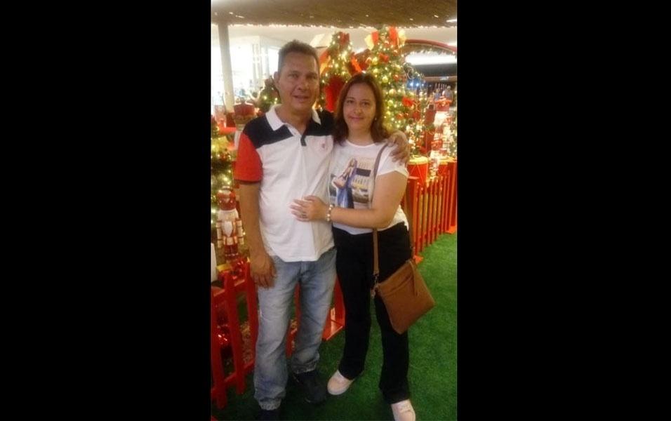 Marcelo Cantelli, de Jarinu (SP),  compartilha foto com Meire de Godoy