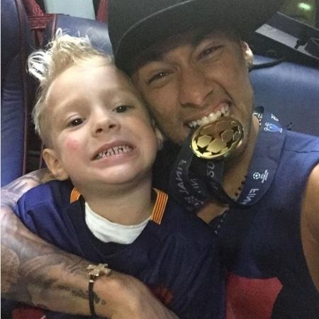 Neymar e Davi Lucca - Reprodução/Instagram @neymarjr