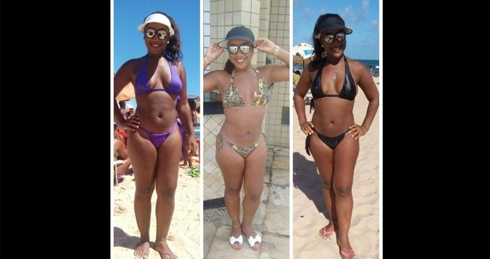 Lucimare Silva, 35 anos, curtindo as férias em Salvador (BA)