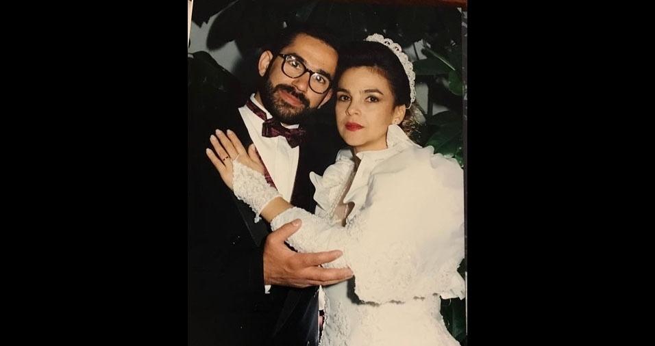 Hailey Barros Fernandes Gonçalves e Leonel Fernandes Gonçalves Filho subiram ao altar no dia 30 de setembro de 1995, na Paróquia Nossa Senhora da Esperança, em Moema (SP)