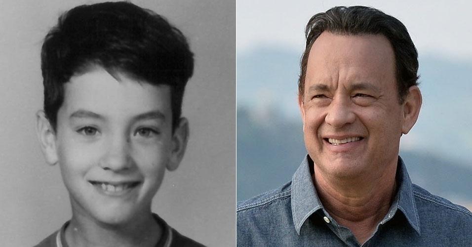 """31.jul.2015 - Você já ouviu falar da hashtag #tbt? A sigla significa """"throwback thursday"""", algo como """"quinta-feira do retrocesso"""", e é uma modinha da internet onde os internautas, vários deles famosos, postam fotos da infância. Na imagem acima, o ator americano Tom Hanks"""