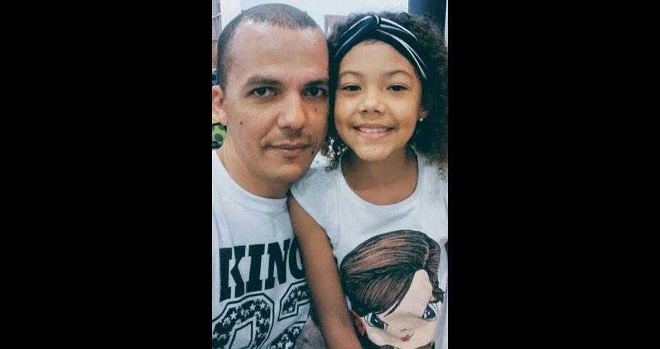 Cleber com a filha Julia