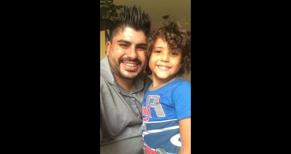 Filipe com o filho Luigi, de São Paulo (SP)
