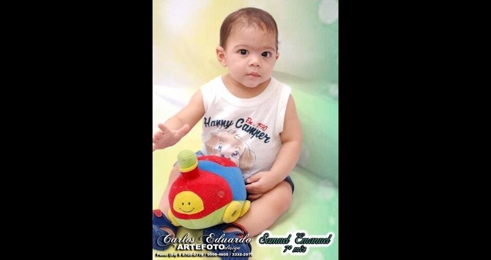 Samuel, filho da Ana Cristina Barros, de Areia Branca (RN)