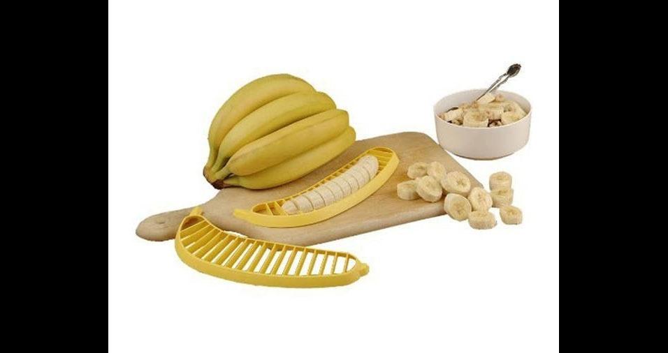 7. Fatiador de banana, para deixar mais prático seu café da manhã ou lanche (e não ter desculpa para não ser saudável!)