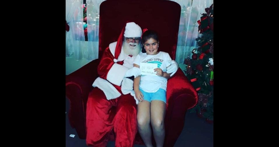 Aline Cunha enviou foto da filha Júlia Colosimo, de Cruzeiro (SP)