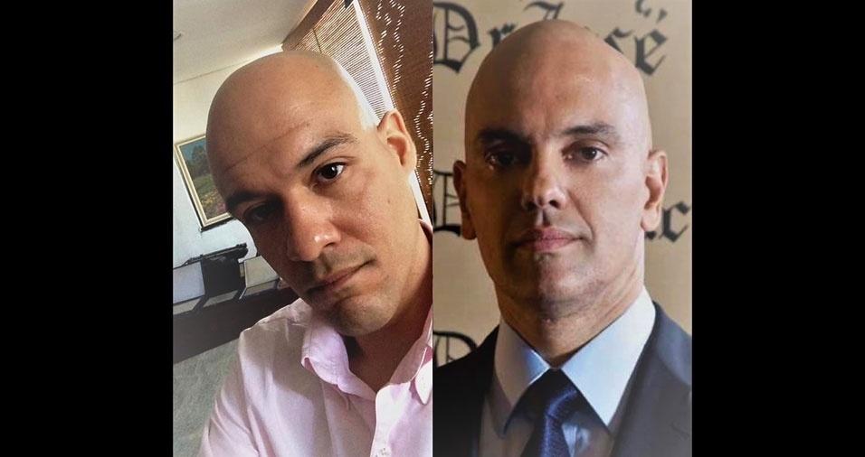 """""""Me acho parecido com o Ministro do Supremo Tribural Federal, Alexandre de Maraes"""", diz Alexandre Henrique"""