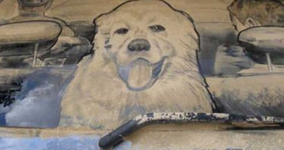 23. Se você não tem um cachorro, não fique triste! O carro da frente poder ter um que vai olhar para você a viagem toda