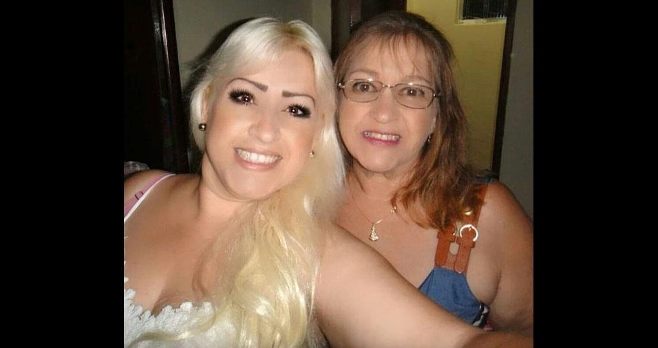 """Elaine Bonilha e Eufrasia, de Jacareí (SP): """"Te amo, mãe!"""""""