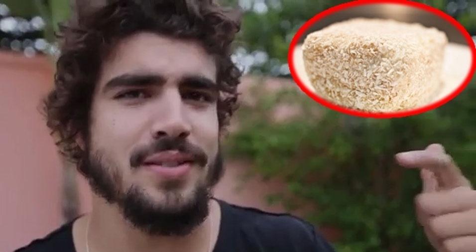 4. Caio Castro - Bolo gelado com creme de coco feito pela vovó