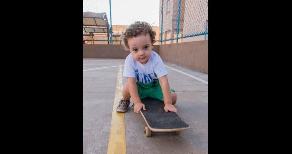 A mãe Milena Gislane, de Rio Claro (SP), enviou foto do filho Miguel