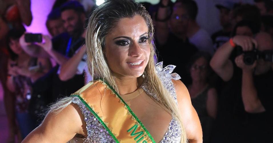 9.nov.2015 - Carioca da gema e representando o Estado do Rio de Janeiro, Dani Sperle ficou em terceiro lugar no Miss Bumbum 2015