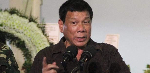 O presidente das Filipinas, Rodrigo Duterte