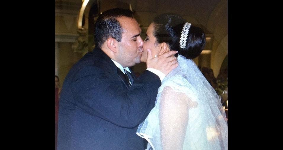 Chenia Ferreira e Bruno Barroso, do Rio de Janeiro (RJ), se casaram no dia 19 de dezembro de 2015