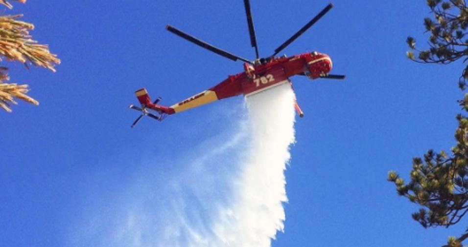 18. Gregg pode atuar em terra apagando o fogo, acompanhar as chamas a bordo de um helicóptero ou ainda apenas caminhar pela floresta garantindo que tudo esteja bem