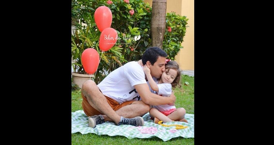 Letícia Lima com o papai Luciano Lima de Maceió (AL)
