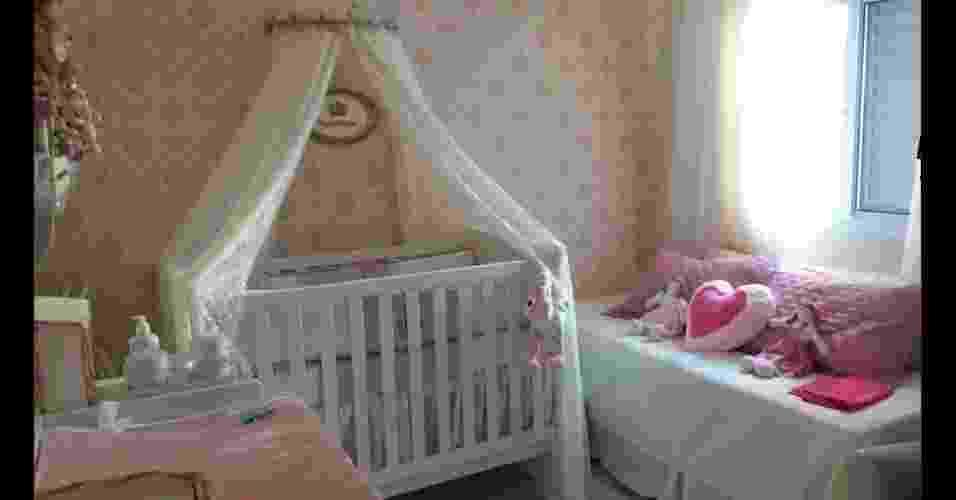 Mamãe Laiza Kalado, de São Paulo (SP), mostra o quarto da filha Valentina. - Arquivo pessoal