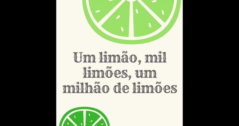 20. Um limão, mil limões, um milhão de limões