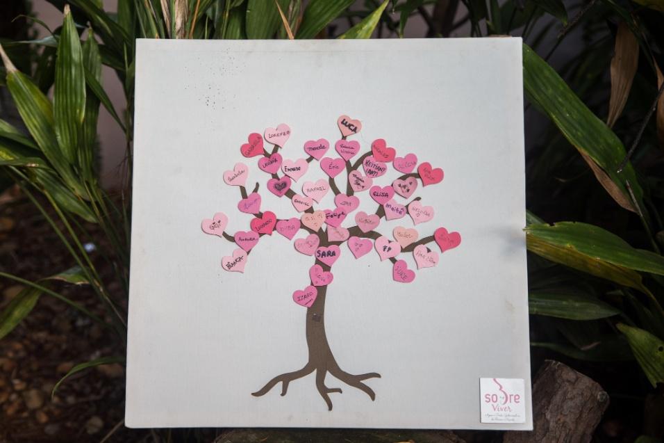Grupo Sobre Viver. No grupo, uma árvore de corações é criada para lembrar do nome de todos os bebês que morreram. As mães escrevem o nome de seus filhos em pequenos pedaços de papel e, depois, colocam na árvore, que virou um símbolo do grupo