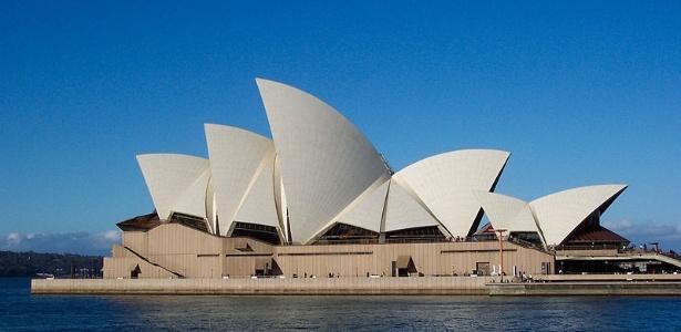 A Opera House, em Sydney, é um dos principais pontos turísticos da Austrália