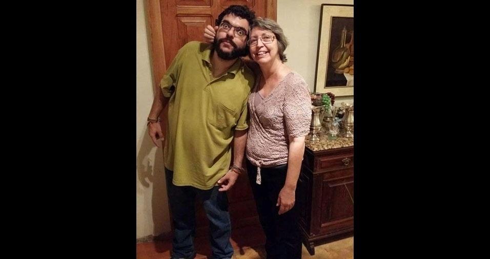João Luiz com a mamãe Jeanne, de Minas Gerais