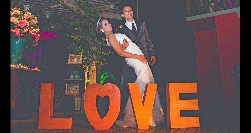 Marcelo Junior e Luana Rosa, de Casimiro de Abreu (RJ), estão casados desde 3 de setembro de 2016