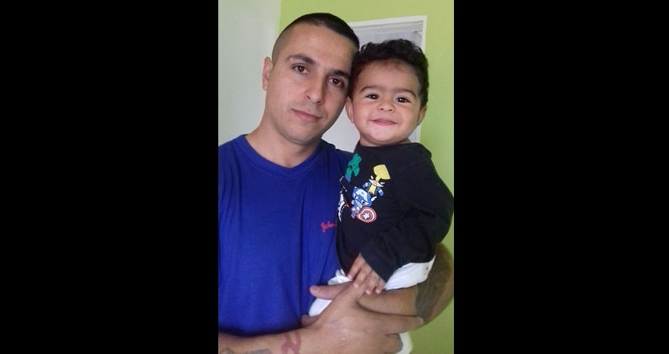 Flávio com o filho Henrique, de São José dos Campos (SP)