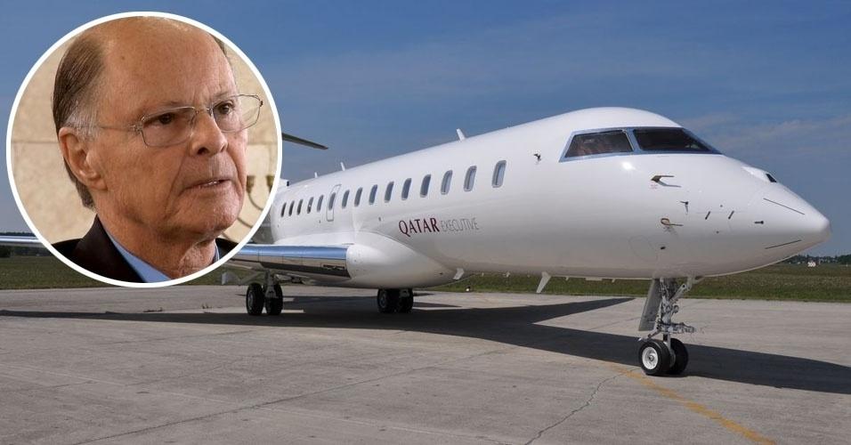 13. O dono da TV Record, Edir Macedo, tem um Bombardier Global Express XRS, turbojato fabricado no Canadá, com capacidade para 13 passageiros e autonomia de voo de 10,8 mil quilômetros. Valor estimado: US$ 45,5 milhões