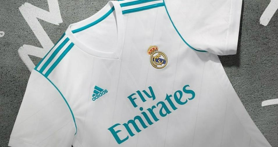 4. Real Madrid - O grande diferencial da nova camisa do Real é o azul nos detalhes