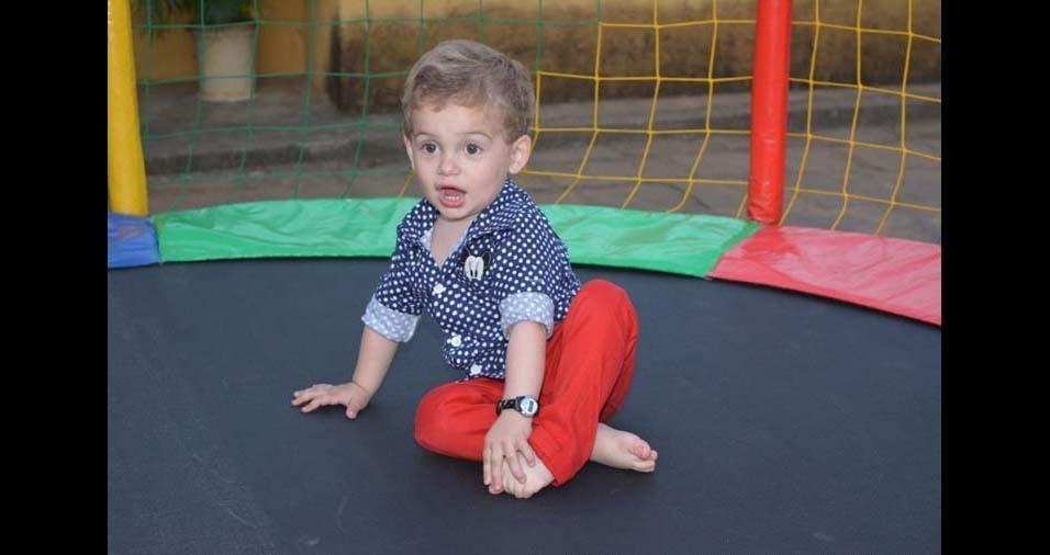 Gilliane e Rogério, de Paraíba do Sul (RJ), enviaram foto do filho Samuel