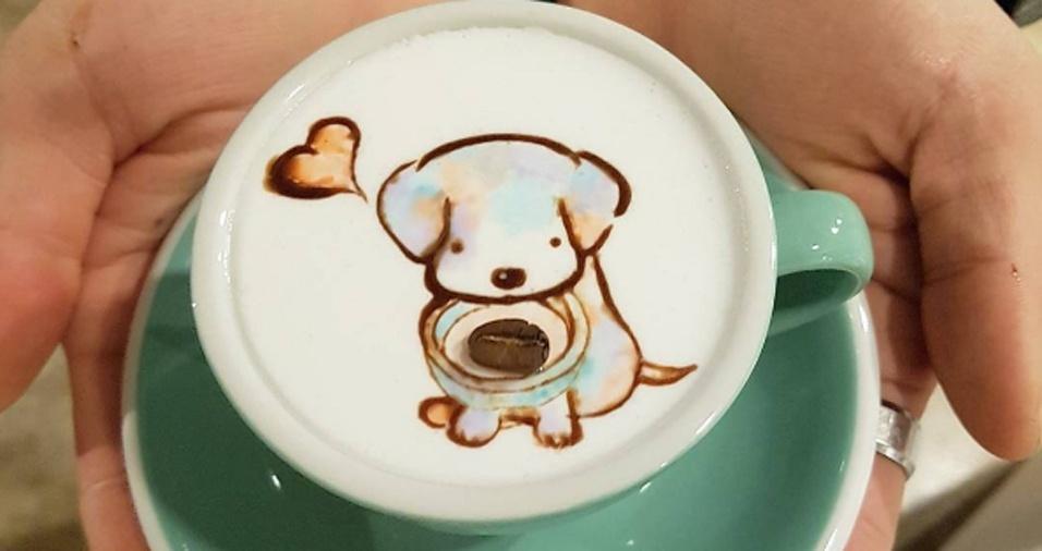 29. Café e cachorros fofos em um único pedido é muito amor