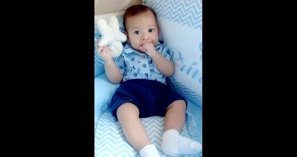 Luiz Paulo, de Formosa (GO), enviou foto do filho Nícolas Emanuel