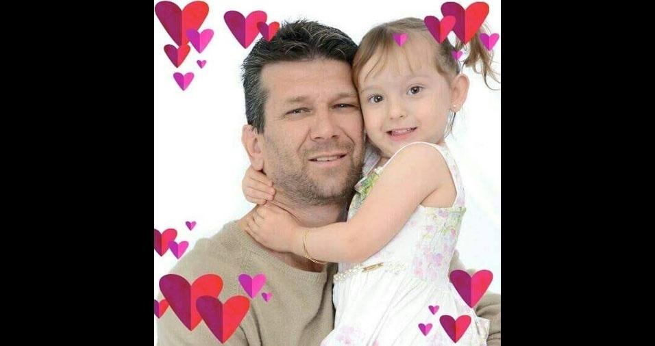 Reginaldo com a filha Yasmin, de Americana (SP)
