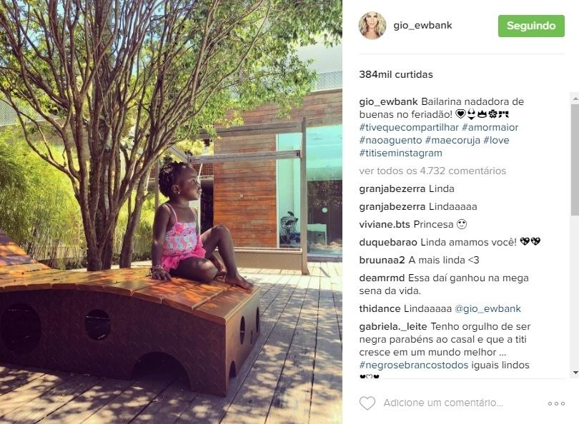 2.nov.2016 - A mamãe coruja Giovanna Ewbank clicou a filha Titi em um momento muito fofo e dividiu a foto com os seguidores no Instagram:
