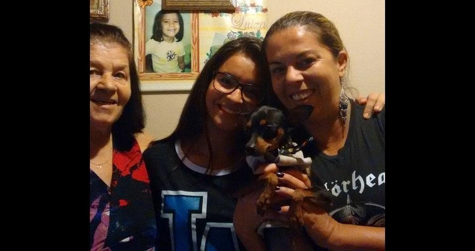 Elza com a filha Cristiane e a neta Fernanda, de Bragança Paulista (SP)