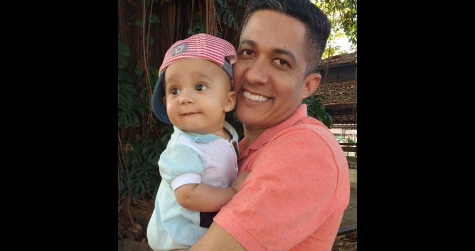 Papai Dinho e seu filho Miguel