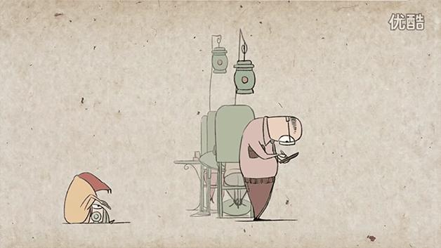 4.nov.2015 - Na sequência de cenas da animação, várias desgraças vão acontecendo sem que as pessoas se deem conta do ocorrido, já que estão muito entretidas com seus smartphones