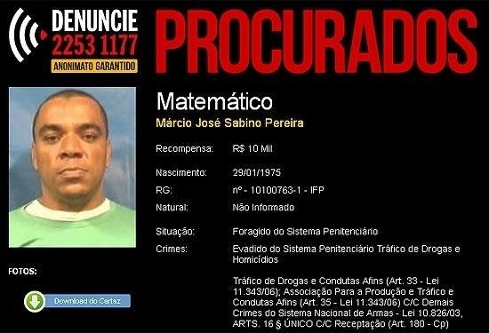 Márcio José Sabino Pereira, o Matemático, se tornou o chefão do Terceiro Comando e, posteriormente, da dissidência Terceiro Comando Puro, após a prisão e morte de Robinho Pinga. Matemático foi morto em 2012, após uma intensa caçada da polícia, que envolveu até helicópteros na operação, na favela Coreia, na zona oeste do Rio de Janeiro. Na ocasião, a ação policial foi duramente criticada por colocar em risco a vida de inocentes na comunidade