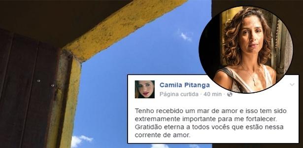 """Camila Pitanga usa redes sociais para agradecer fãs pela """"corrente de amor"""" - Reprodução"""