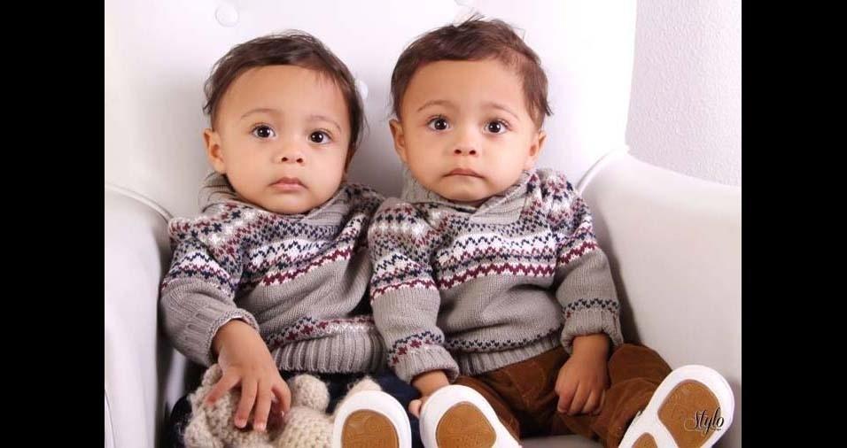 Vanessa, de Caxias do Sul (RS), enviou foto dos filhos Enzo e Elias