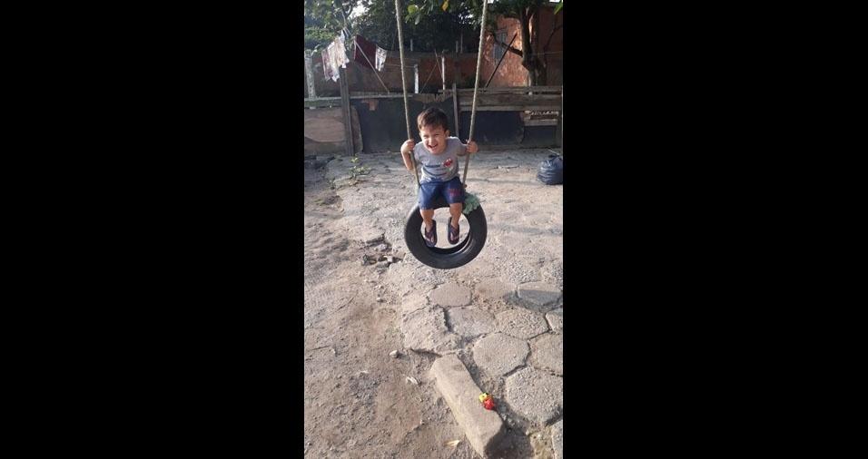 Felipe enviou foto do filho Mateus, do Guarujá (SP)
