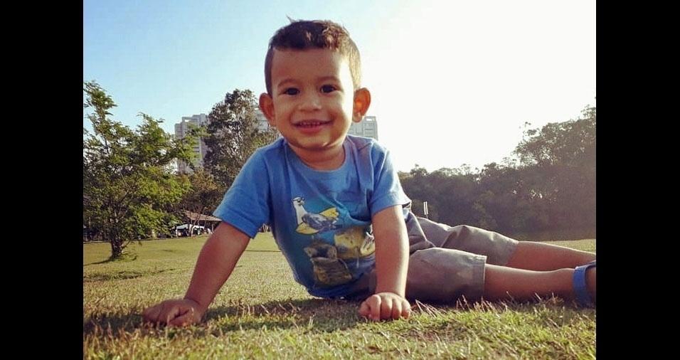 Fabio José enviou foto do filho Matheus