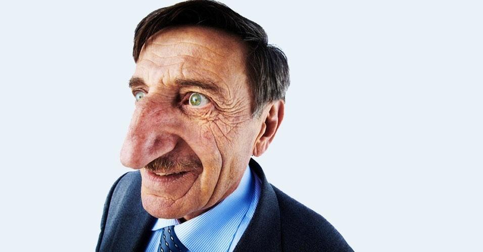 28. Assim como Annie Turner, o turco Mehmet Ozyurek também tem uma parte do corpo avantajada. Em 2010, seu nariz media 8,8 cm. E dizem que não vai parar de crescer.